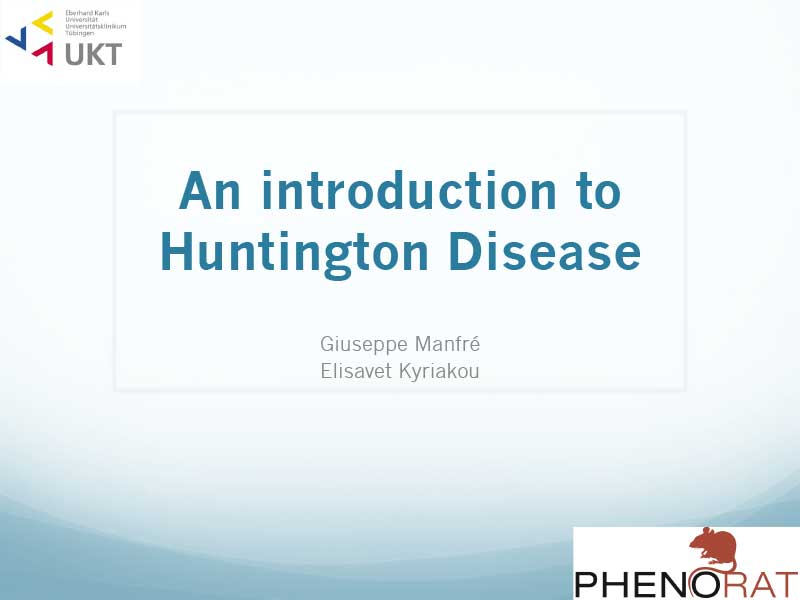Giuseppe Manfré & Elisavet Kyriakou | An introduction to Huntington Disease